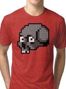 8 Bit Skull - Grey Tri-blend T-Shirt