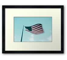 and so proudly she waves Framed Print