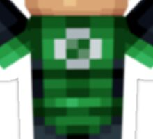Green Lantern Minecraft Sticker