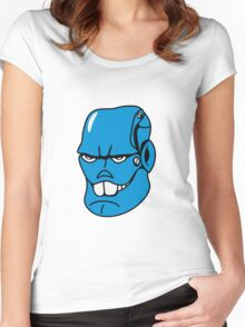 Robot monster cool comic face Women's Fitted Scoop T-Shirt