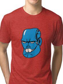 Robot monster cool comic face Tri-blend T-Shirt