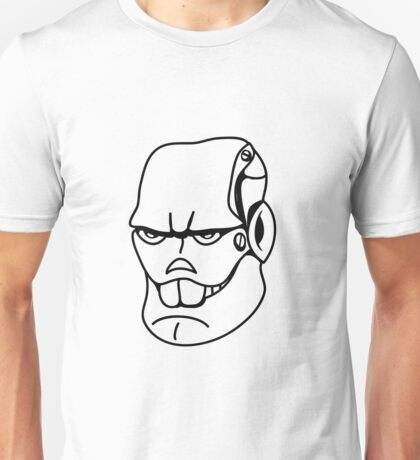Robot monster cool comic face Unisex T-Shirt