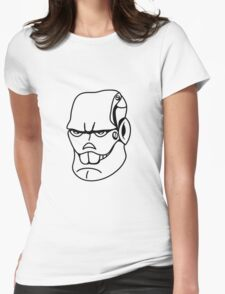 Robot monster cool comic face Womens Fitted T-Shirt