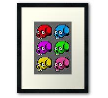 8 Bit Skulls Framed Print