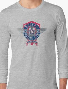 Rogers Boxing Gym 2 on Steel Long Sleeve T-Shirt