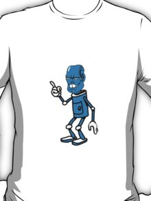 Robot monster cool attention fun comic T-Shirt