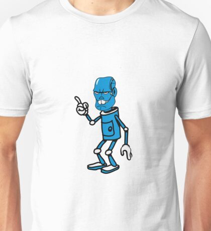 Robot monster cool attention fun comic Unisex T-Shirt