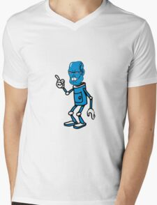 Robot monster cool attention fun comic Mens V-Neck T-Shirt