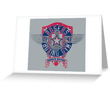 Rogers Boxing Gym 2 on Steel Greeting Card