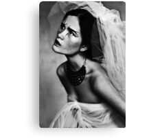 Bride portrait Canvas Print
