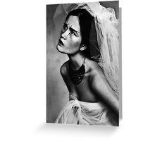 Bride portrait Greeting Card