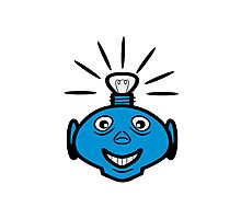 Robot head bulb cool funny funny Photographic Print