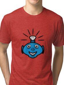Robot head bulb cool funny funny Tri-blend T-Shirt