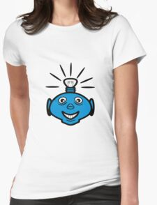 Robot head bulb cool funny funny Womens Fitted T-Shirt