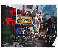 New York Times Square Billboards Poster