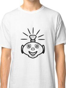 Robot head bulb cool funny funny Classic T-Shirt