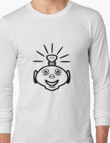 Robot head bulb cool funny funny Long Sleeve T-Shirt