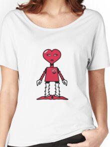 Robot woman's heart Romance love Women's Relaxed Fit T-Shirt