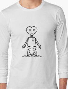 Robot woman's heart Romance love Long Sleeve T-Shirt