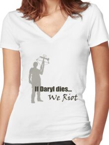 The Walking Dead - Daryl Dixon Women's Fitted V-Neck T-Shirt