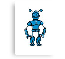 Cool funny robot toy fun Canvas Print