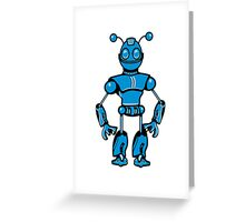 Cool funny robot toy fun Greeting Card