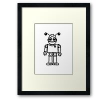 Cool funny robot toy fun Framed Print