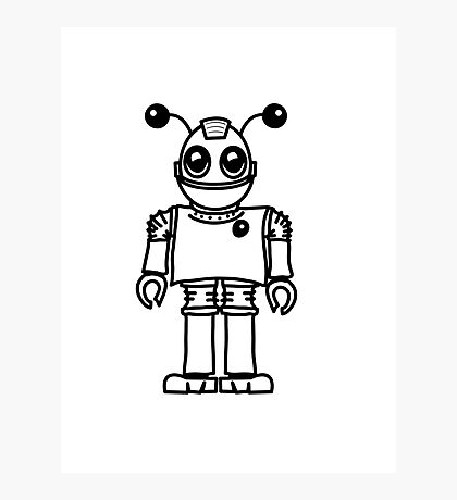 Cool funny robot toy fun Photographic Print