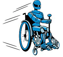 Cool funny robot wheelchair funny by Motiv-Lady