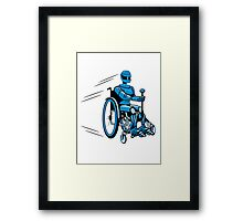 Cool funny robot wheelchair funny Framed Print
