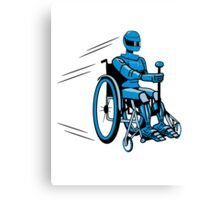 Cool funny robot wheelchair funny Canvas Print