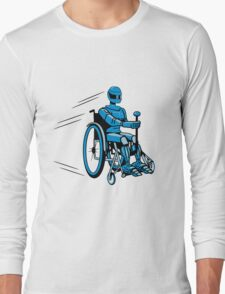 Cool funny robot wheelchair funny Long Sleeve T-Shirt