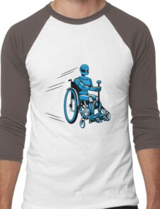 Cool funny robot wheelchair funny Men's Baseball ¾ T-Shirt