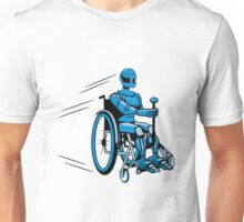 Cool funny robot wheelchair funny Unisex T-Shirt