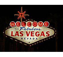 THE Las Vegas Sign Photographic Print