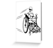 Cool funny robot wheelchair funny Greeting Card