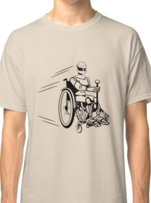 Cool funny robot wheelchair funny Classic T-Shirt