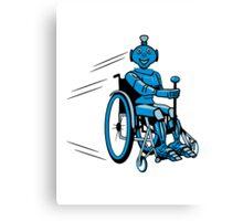 Robot cool humorous light wheelchair funny Canvas Print