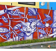 Wall - Digital Illustration by Gustavo Messias Photographic Print