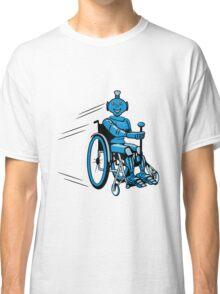 Robot cool humorous light wheelchair funny Classic T-Shirt