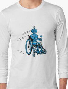 Robot cool humorous light wheelchair funny Long Sleeve T-Shirt