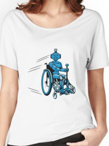 Robot cool humorous light wheelchair funny Women's Relaxed Fit T-Shirt