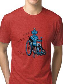 Robot cool humorous light wheelchair funny Tri-blend T-Shirt