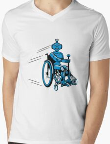Robot cool humorous light wheelchair funny Mens V-Neck T-Shirt
