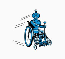 Robot cool humorous light wheelchair funny Unisex T-Shirt
