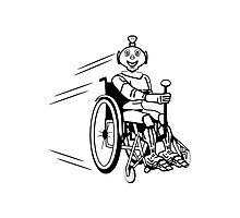 Robot cool humorous light wheelchair funny Photographic Print