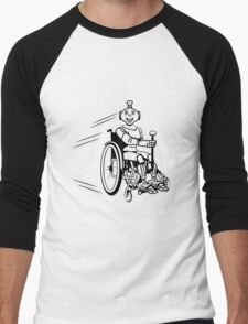 Robot cool humorous light wheelchair funny Men's Baseball ¾ T-Shirt