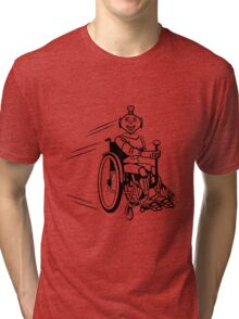 Robot cool humorous light wheelchair funny Tri-blend T-Shirt