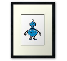 Robot cool funny PEAR fat funny Framed Print