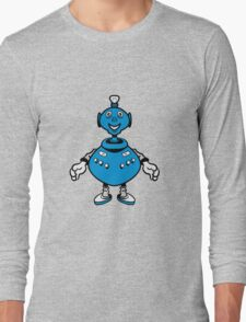 Robot cool funny PEAR fat funny Long Sleeve T-Shirt